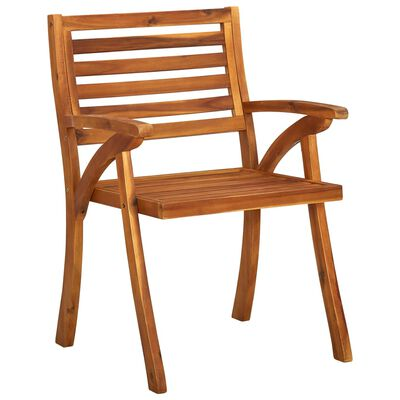 vidaXL Garden Dining Chairs with Cushions 3 pcs Solid Acacia Wood