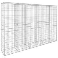 "vidaXL Gabion Wall with Cover Galvanised Steel 118.1""x19.7""x78.7"""