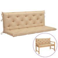 "vidaXL Cushion for Swing Chair Beige 59.1"" Fabric"