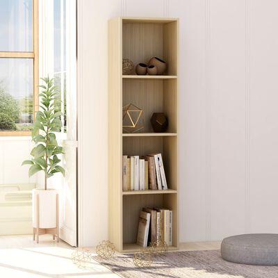 "vidaXL Book Cabinet Sonoma Oak 15.7""x11.8""x59.6"" Chipboard"