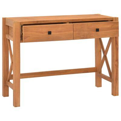 "vidaXL Desk with 2 Drawers 39.4""x15.7""x29.5"" Recycled Teak Wood"