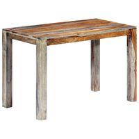 "vidaXL Dining Table Gray 46.5""x23.6""x29.9"" Solid Sheesham Wood"
