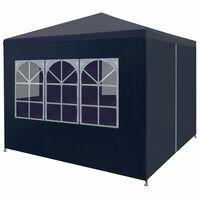 """vidaXL Party Tent 9'10""""x9'10"""" Blue"""