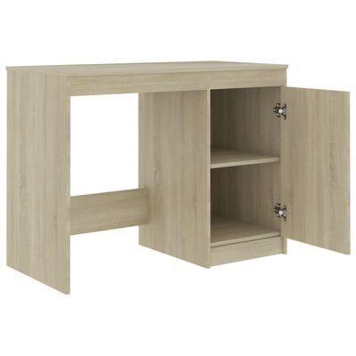 "vidaXL Desk Gray 39.4""x19.7""x29.9"" Chipboard"