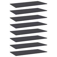 """vidaXL Bookshelf Boards 8 pcs Gray 31.5""""x7.9""""x0.6"""" Chipboard"""