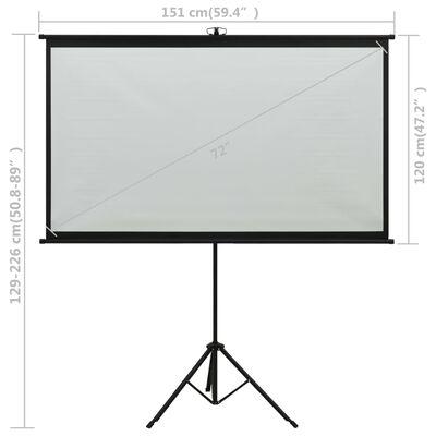 "vidaXL Projection Screen with Tripod 72"" 4:3"