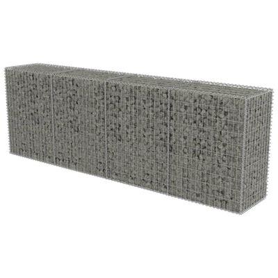 "vidaXL Gabion Wall with Covers Galvanized Steel 118""x19.7""x39.4"""