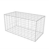 """vidaXL Gabion Basket Galvanised Steel 39.4""""x19.7""""x19.7"""""""