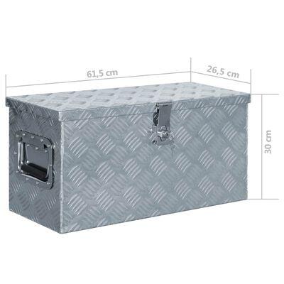 "vidaXL Aluminum Box 21.2""x10.4""x11.8"" Silver"