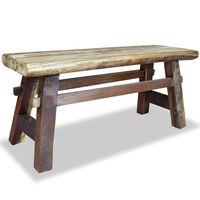 "vidaXL Bench Solid Reclaimed Wood 39.4""x11""x16.9"""