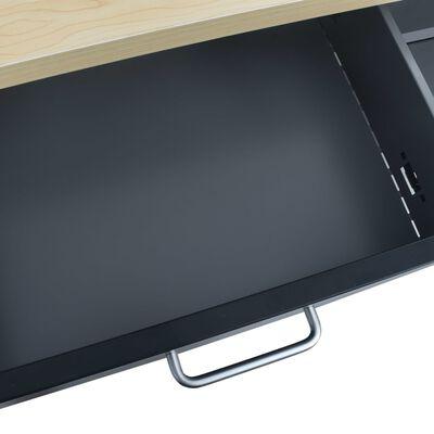 "vidaXL Workbench Black 47.2""x23.6""x33.5"" Steel"