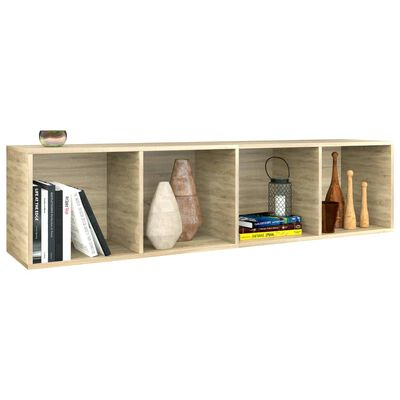 "vidaXL Book Cabinet/TV Cabinet Sonoma Oak 14.2""x11.8""x56.3"" Chipboard"