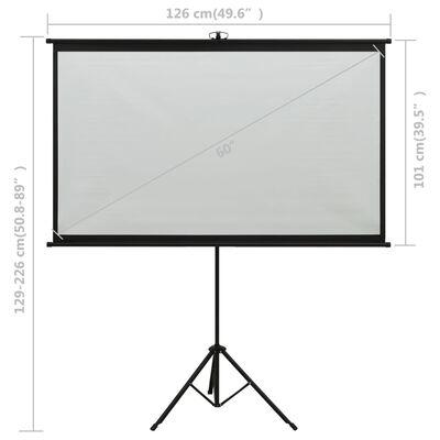 "vidaXL Projection Screen with Tripod 60"" 4:3"