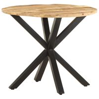 "vidaXL Side Table 26.8""x26.8""x22"" Solid Mango Wood"