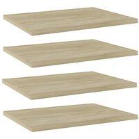 """vidaXL Bookshelf Boards 4 pcs Sonoma Oak 15.7""""x11.8""""x0.6"""" Chipboard"""