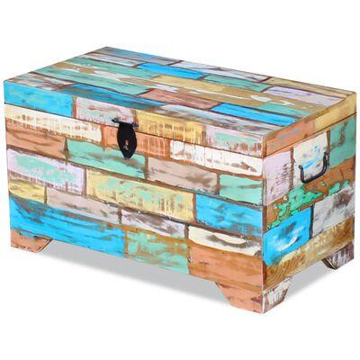 vidaXL Storage Chest Solid Reclaimed Wood