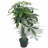 """vidaXL Artificial Fortune Tree Plant with Pot 33.5"""" Green"""