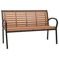 "vidaXL Garden Bench 49.2"" Steel and WPC Black and Brown"