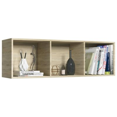 "vidaXL Book Cabinet/TV Cabinet Sonoma Oak 14.2""x11.8""x44.9"" Chipboard"