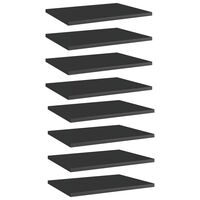 "vidaXL Bookshelf Boards 8 pcs High Gloss Black 15.7""x11.8""x0.6"" Chipboard"