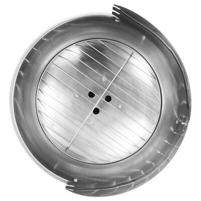 vidaXL Pedestal Charcoal BBQ Grill Stainless Steel
