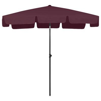 """vidaXL Beach Umbrella Bordeaux Red 78.7""""x49.2"""""""