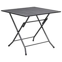 "vidaXL Folding Mesh Table 31.5""x31.5""x28.3"" Steel Anthracite"