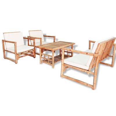 Vidaxl 4 Piece Garden Lounge Set With, Is Bamboo Good For Outdoor Furniture