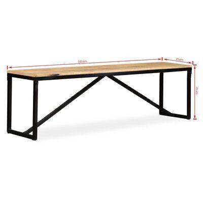 "vidaXL Bench Solid Mango Wood 63""x13.8""x17.7"""