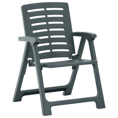 vidaXL Garden Chairs 4 pcs Plastic Green