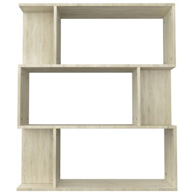 "vidaXL Book Cabinet/Room Divider Sonoma Oak 31.5""x9.4""x37.8"" Chipboard"