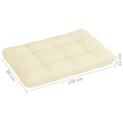 """vidaXL Pallet Sofa Cushion Cream 47.2""""x31.5""""x4.7"""""""
