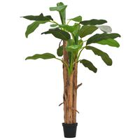 "vidaXL Artificial Banana Tree with Pot 98.4"" Green"
