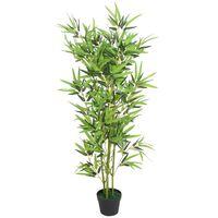 "vidaXL Artificial Bamboo Plant with Pot 47.2"" Green"