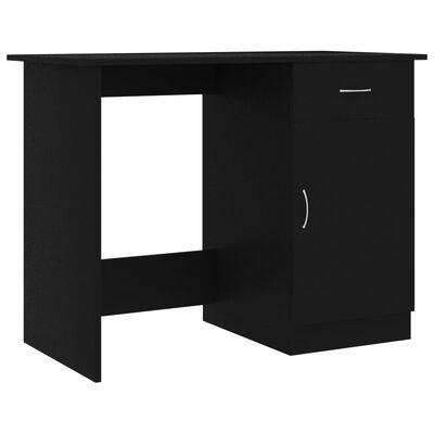 """vidaXL Desk Black 39.4""""x19.7""""x29.9"""" Chipboard"""