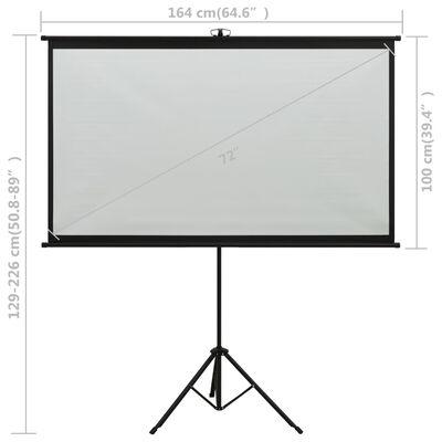 "vidaXL Projection Screen with Tripod 72"" 16:9"