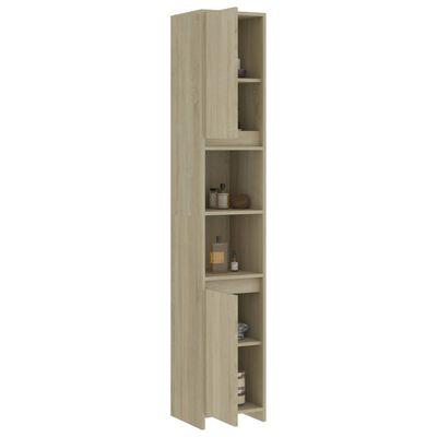 vidaXL 3 Piece Bathroom Furniture Set Sonoma Oak Chipboard