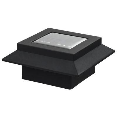 "vidaXL Outdoor Solar Lamps 12 pcs LED Square 4.7"" Black"