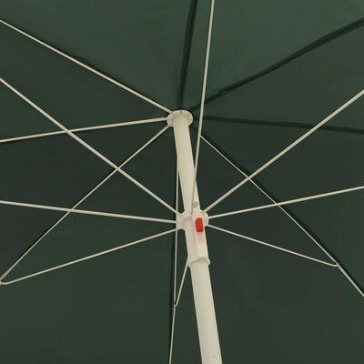 "vidaXL Beach Umbrella Green 94.5"""