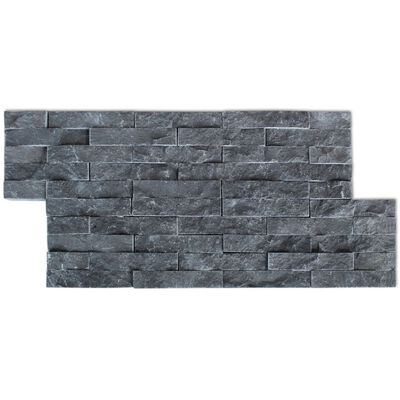 vidaXL Wall Cladding Panels 5 pcs Marble Black