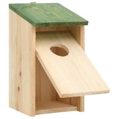 "vidaXL Bird Houses 10 pcs Solid Firwood 4.7""x4.7""x8.7"""