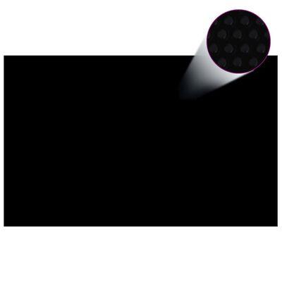 Floating Rectangular PE Solar Pool Film 26.3 x 16.5 ft Black