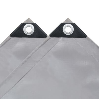 vidaXL Tarpaulin 650 g/m² 9.8'x16.4' Gray