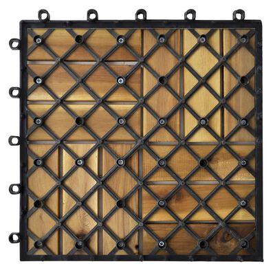 """vidaXL Decking Tiles 11.8""""x11.8"""" Acacia Set of 30"""