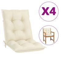 """vidaXL Garden Chair Cushions 4 pcs Cream 39.4""""x19.7""""x2.8"""""""