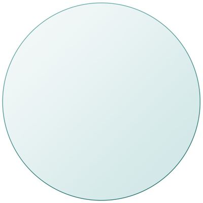 """vidaXL Table Top Tempered Glass Round 35.4"""""""