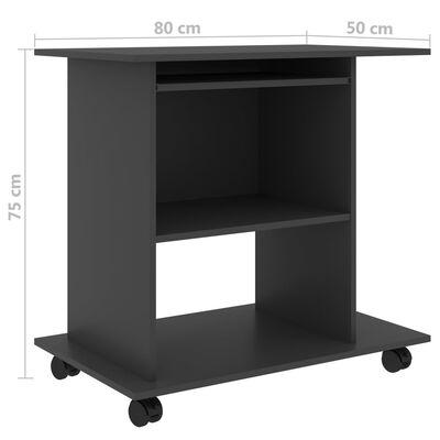 "vidaXL Computer Desk Gray 31.5""x19.7""x29.5"" Chipboard"