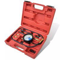 Automotive Diesel Gas Engine Cylinder Compression Leakdown Tester Gauge Tool Kit