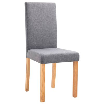 vidaXL Dining Chairs 4 pcs Light Gray Fabric