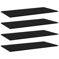 """vidaXL Bookshelf Boards 4 pcs Black 39.4""""x19.7""""x0.6"""" Chipboard"""